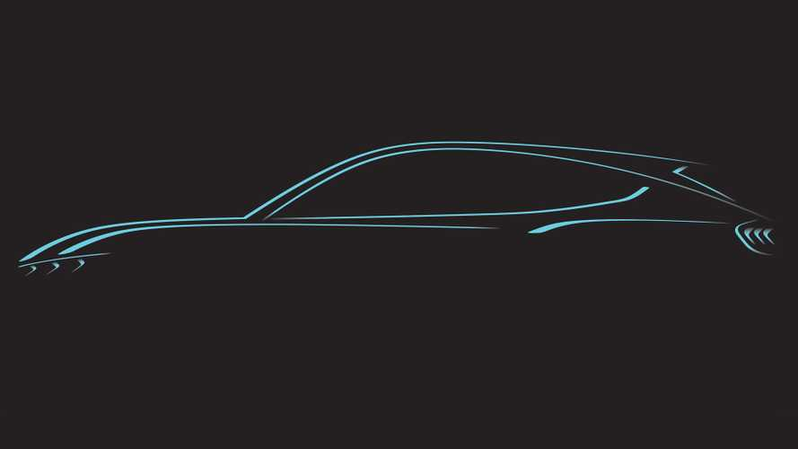 Mustang-based EV crossover teased in-depth, debuts in November