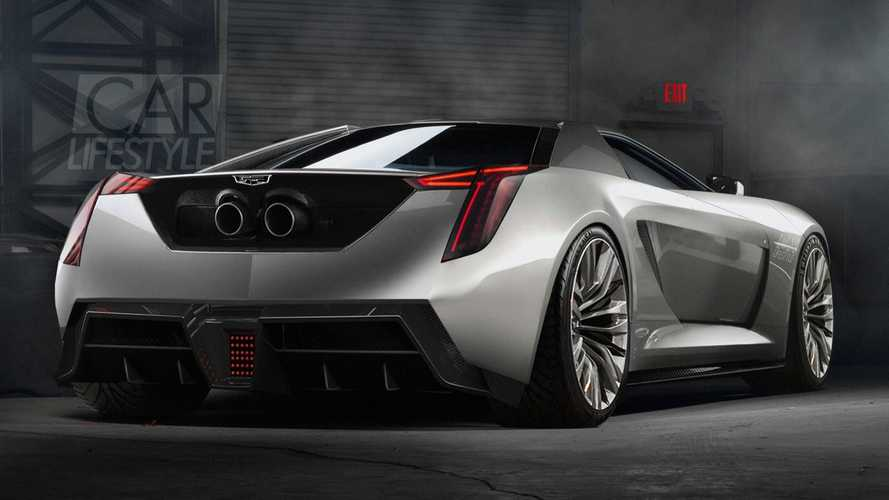 Mid-engined Cadillac supercar rendering