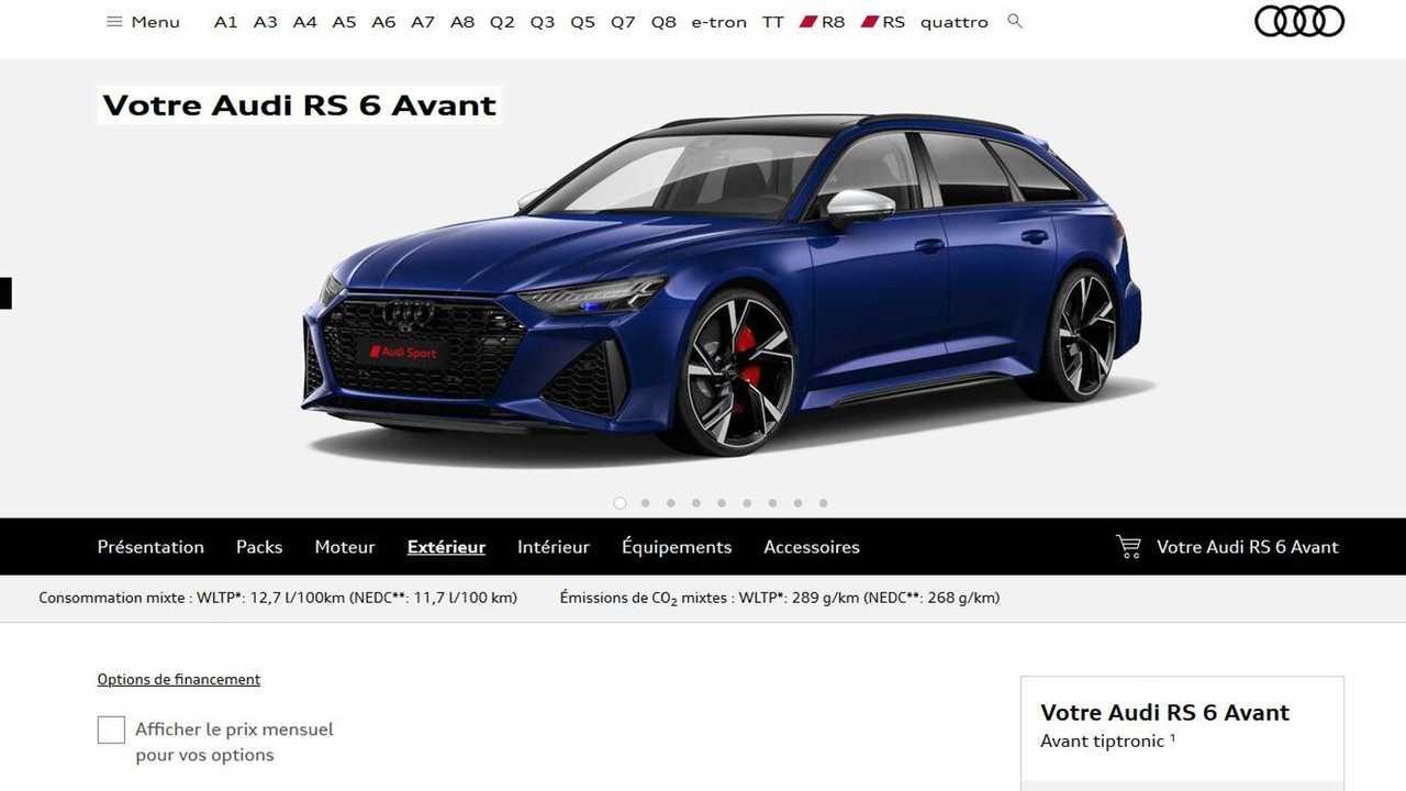 Configuration Audi RS 6 Avant