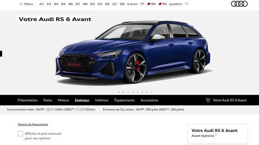 Le configurateur de l'Audi RS 6 Avant est en ligne !
