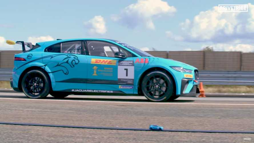 Jaguar I-Pace Racing Its Scalextric Twin Is A Kid's Dream Come True