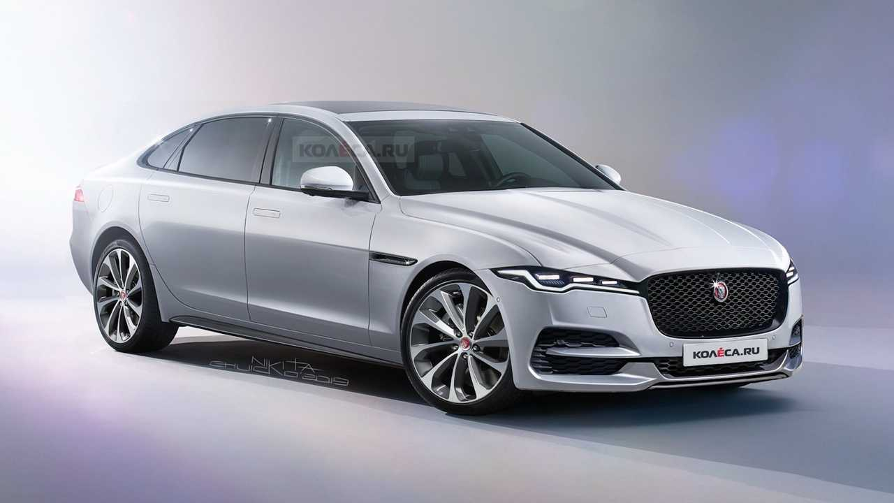 2021 jaguar xj rendered with fierce fascia but we expect more