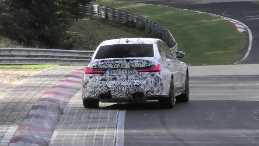 New BMW M3 G80 spied testing with manual gearbox at the 'Ring
