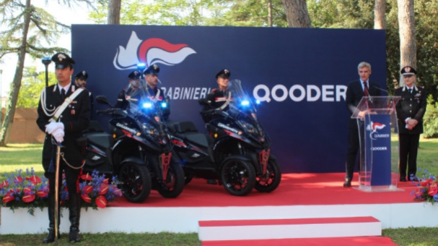 Quadro Qooder, lo scooter 4 ruote si arruola nei Carabinieri
