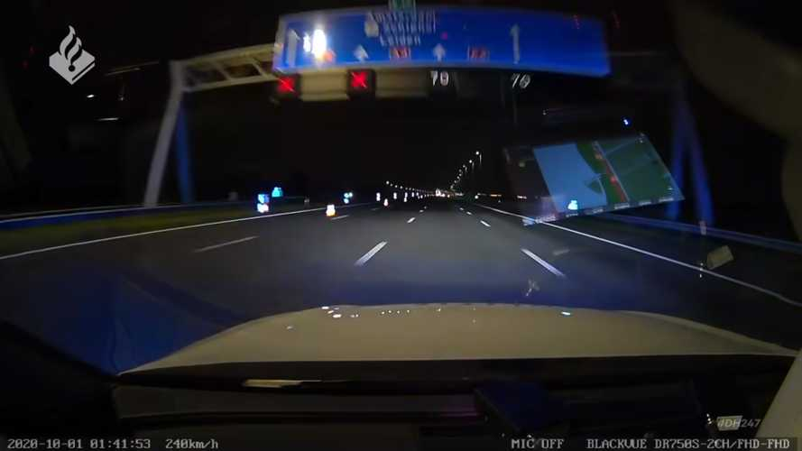 Watch police car reach 149 mph as it chases speeding VW Golf driver