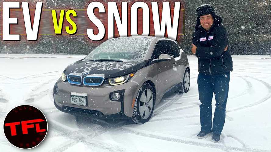 BMW i3 Winter Test: Can It Do Doughnuts In The Snow?