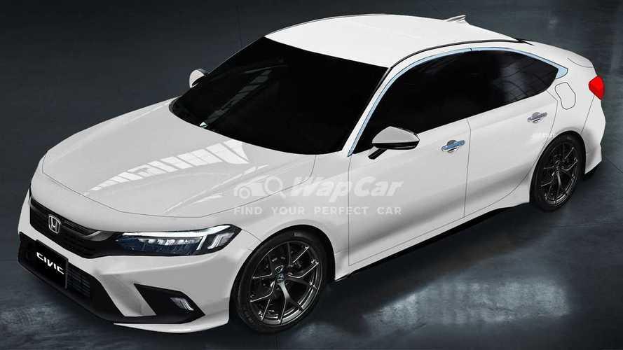 Projeção: Novo Honda Civic 2022 ficará menos ousado e será um mini-Accord