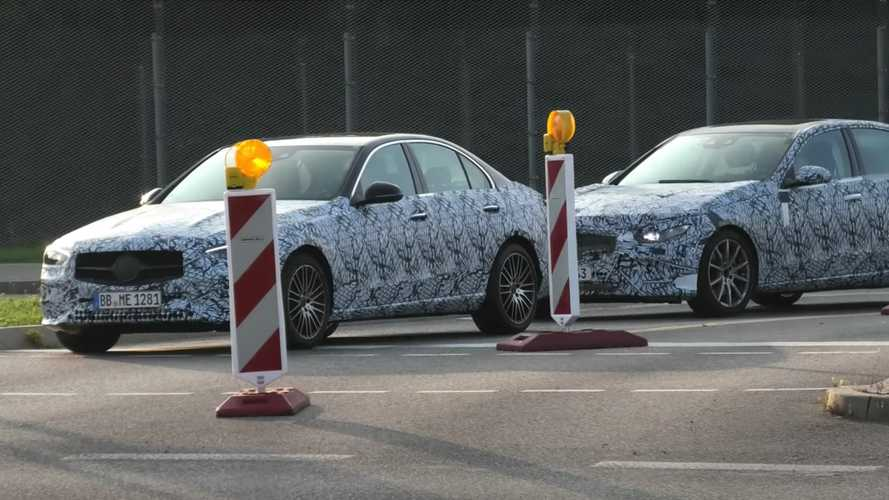 New Mercedes C-Class Sedan Spied Testing In Tandem With Wagon Version