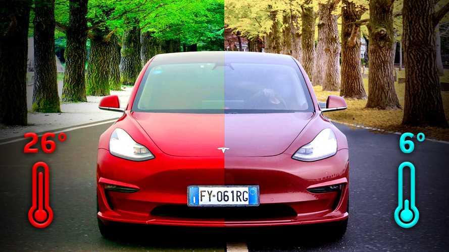 Tesla Model 3: ecco come cambia l'autonomia col caldo e col freddo
