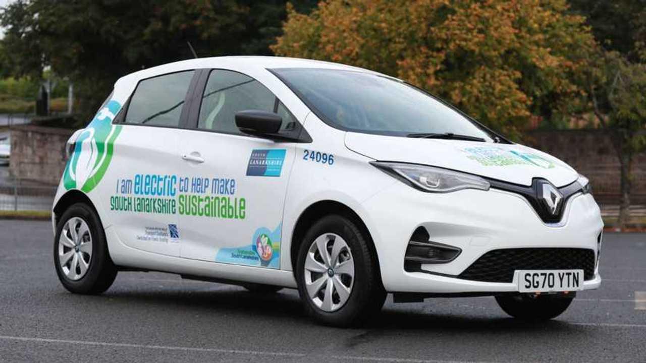South Lanarkshire Council Renault Zoe