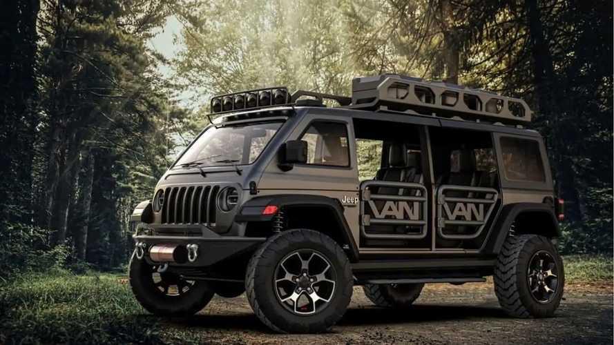 Jeep Wrangler Van, render del monovolumen 4x4