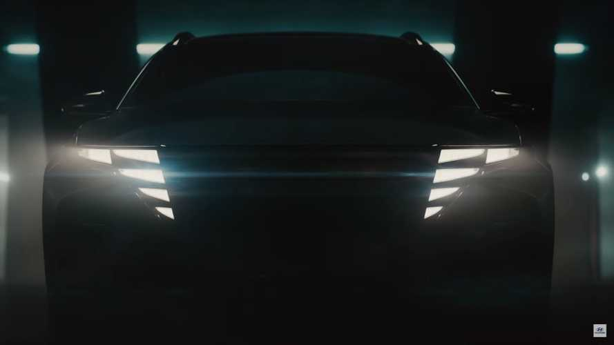2021 Hyundai Tucson Lights Up Its Grille In Two New Teaser Videos