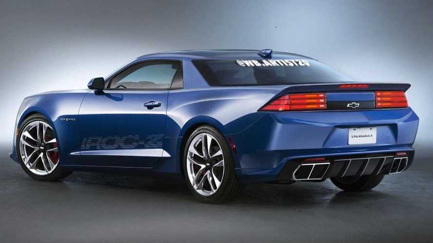 Here's The Back Of That Modernized Chevy Camaro IROC-Z Fan Rendering