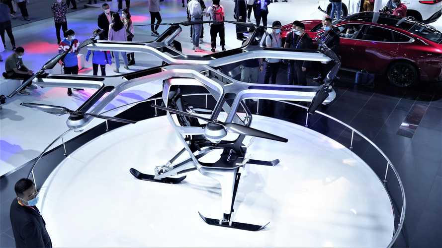 Xpeng Unveils Flying Electric Vehicle Prototype At Beijing Motor Show