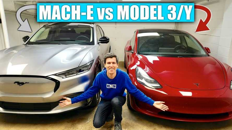Ford Mustang Mach-E Compared To Two Teslas By Engineering Explained