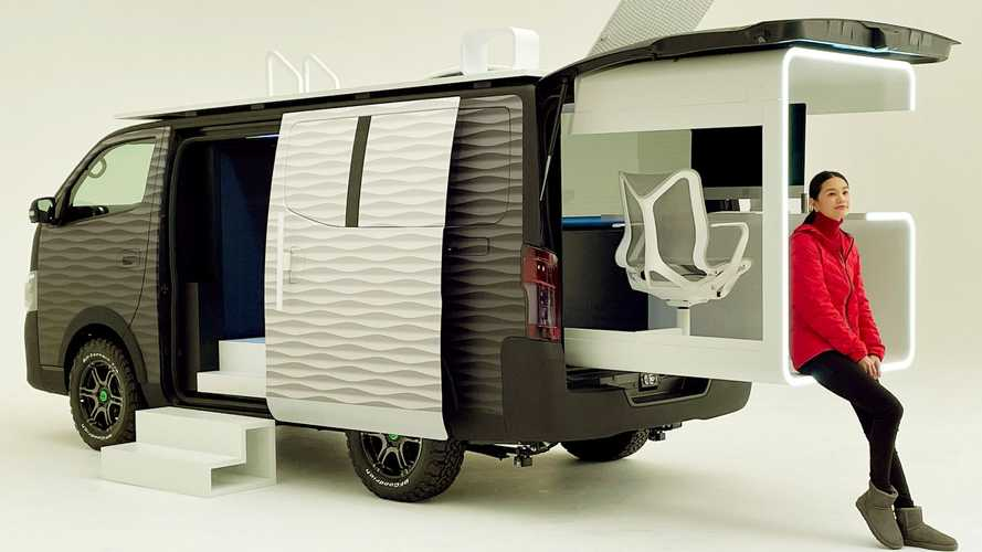 Nissan Office Pod Concept is a digital nomad's dream car