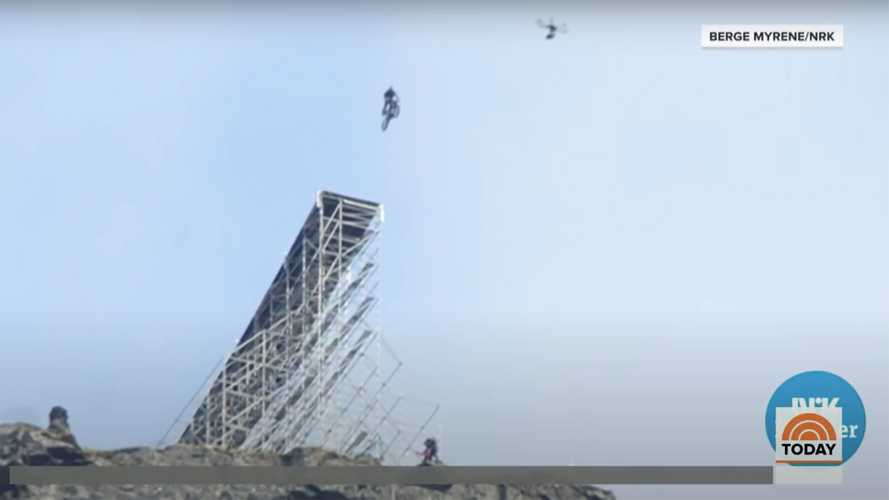 Tom Cruise performs insane bike jump for new M:I 7 movie