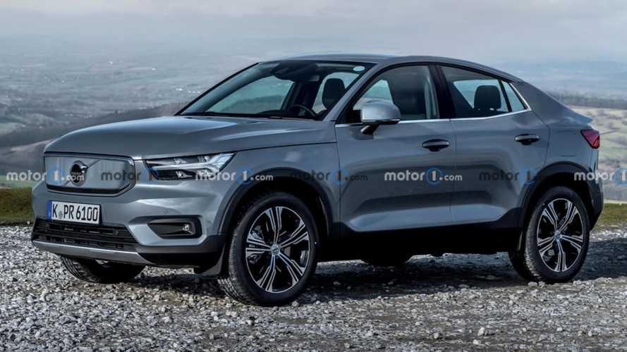 2022 Volvo EV speculatively rendered as an XC40 Coupe