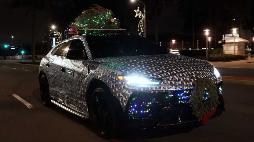 Gift-Wrapped Urus Is The Real Lamborghini You Wanted For Christmas