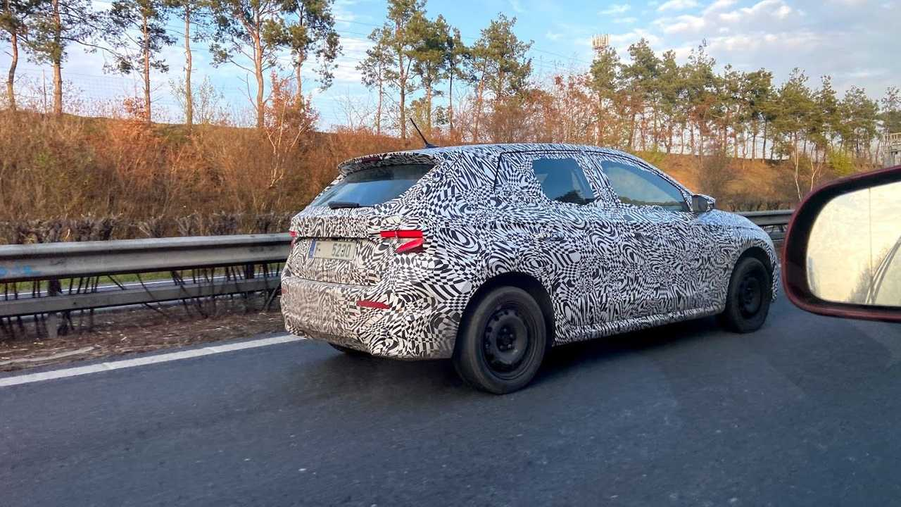 2021 Skoda Fabia prototype with production body spy photo
