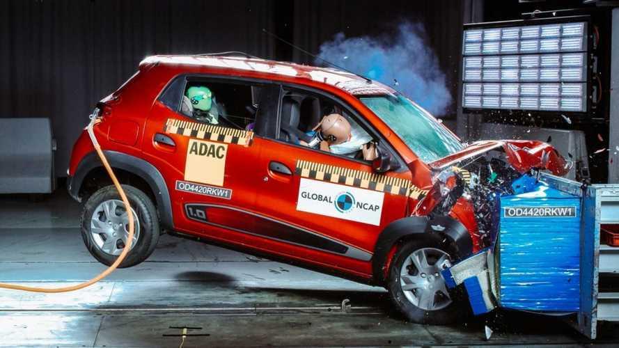 Renault Kwid indiano alcança apenas 2 estrelas nos testes do Global NCAP
