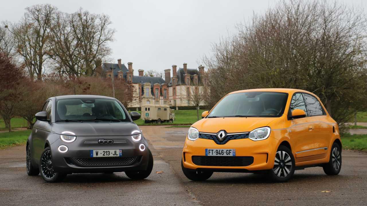 Fiat 500 elétrico vs Renault Twingo elétrico 3/4