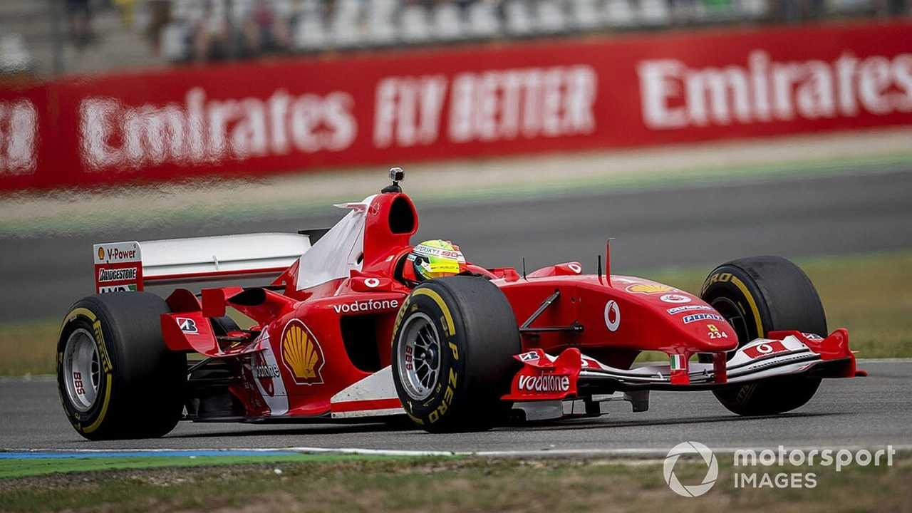 Mick Schumacher drives the Ferrari F2004