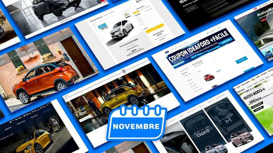 Promozioni auto, tutte le offerte di novembre 2020