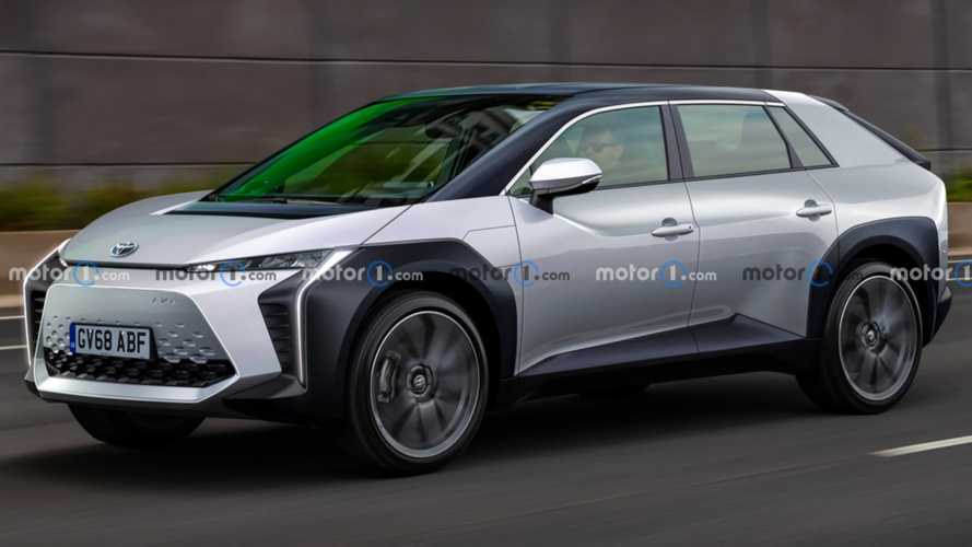 Toyota midsize crossover EV speculatively rendered based on trademark