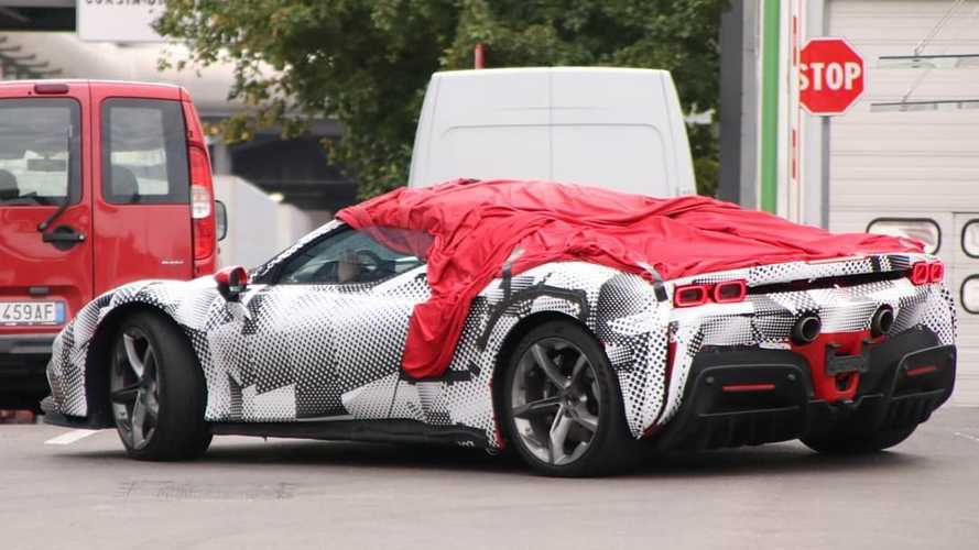 Ferrari SF90 Stradale Spider spy photos