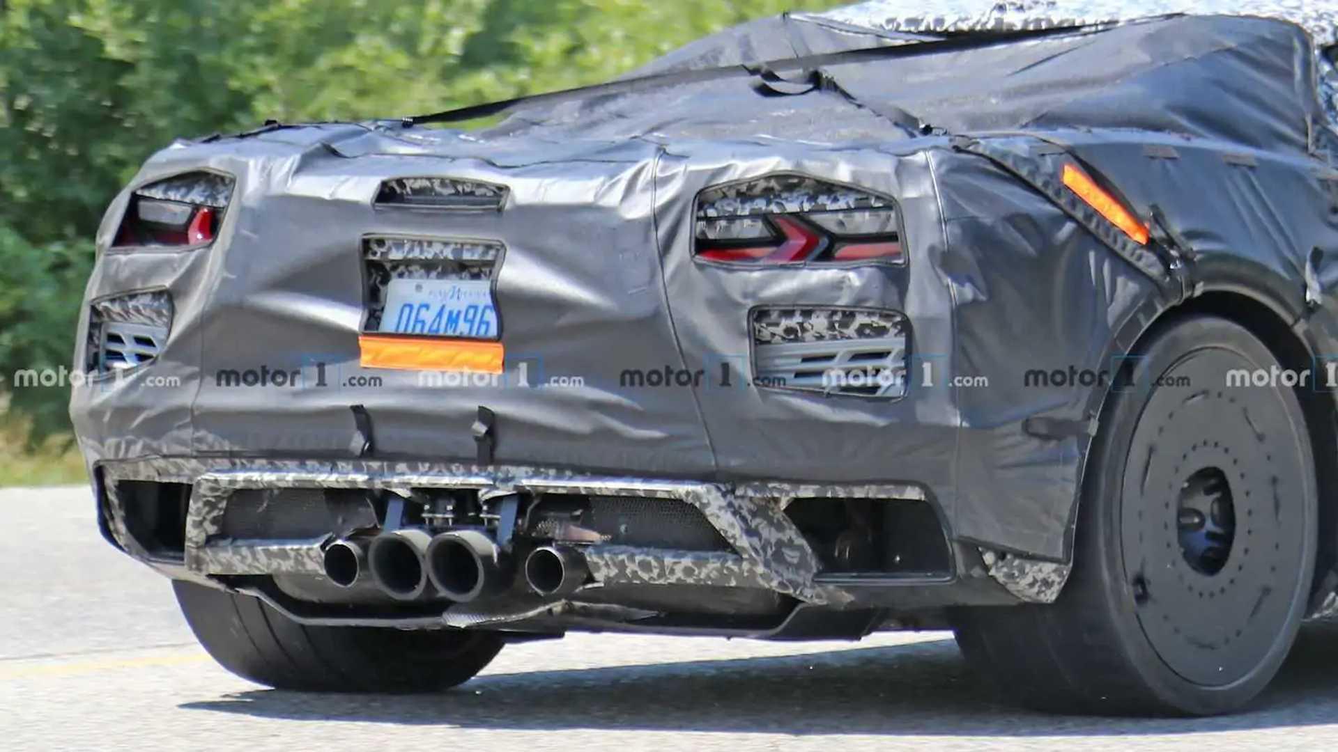 Spy photo of C8 Chevrolet Corvette Z06