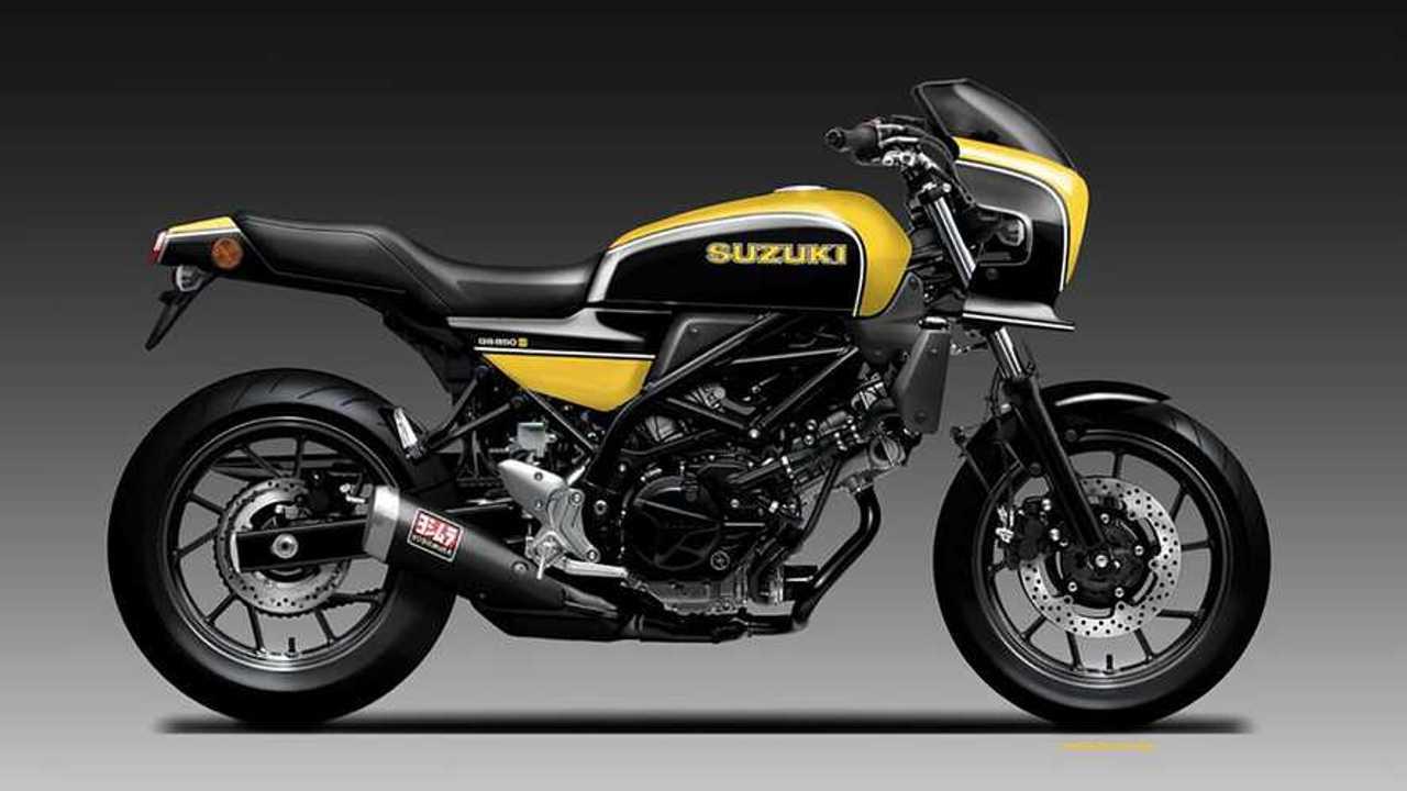 Suzuki GS650 Render Oberdan Bezzi