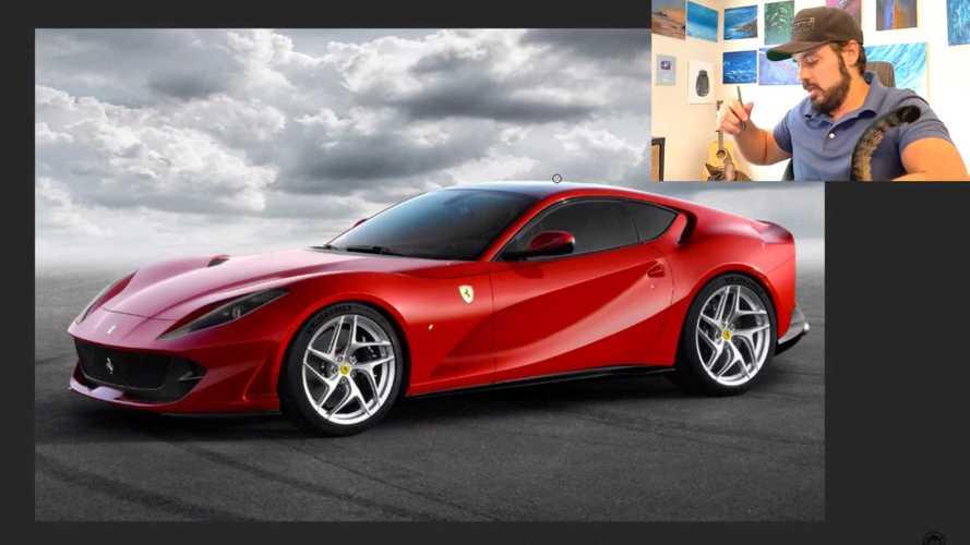 Ferrari 812 Superfast mid-engine renderings