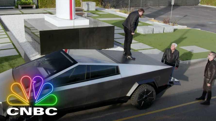 Jay Leno's Garage Features Elon, Franz, Cybertruck, Boring Tunnel & More