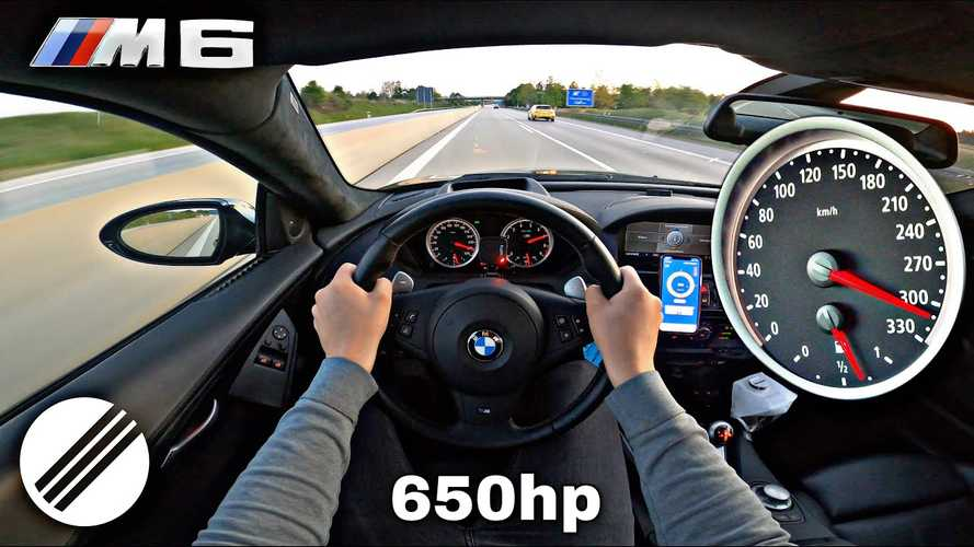 BMW M6 with supercharged V10 is crazy fast on the Autobahn
