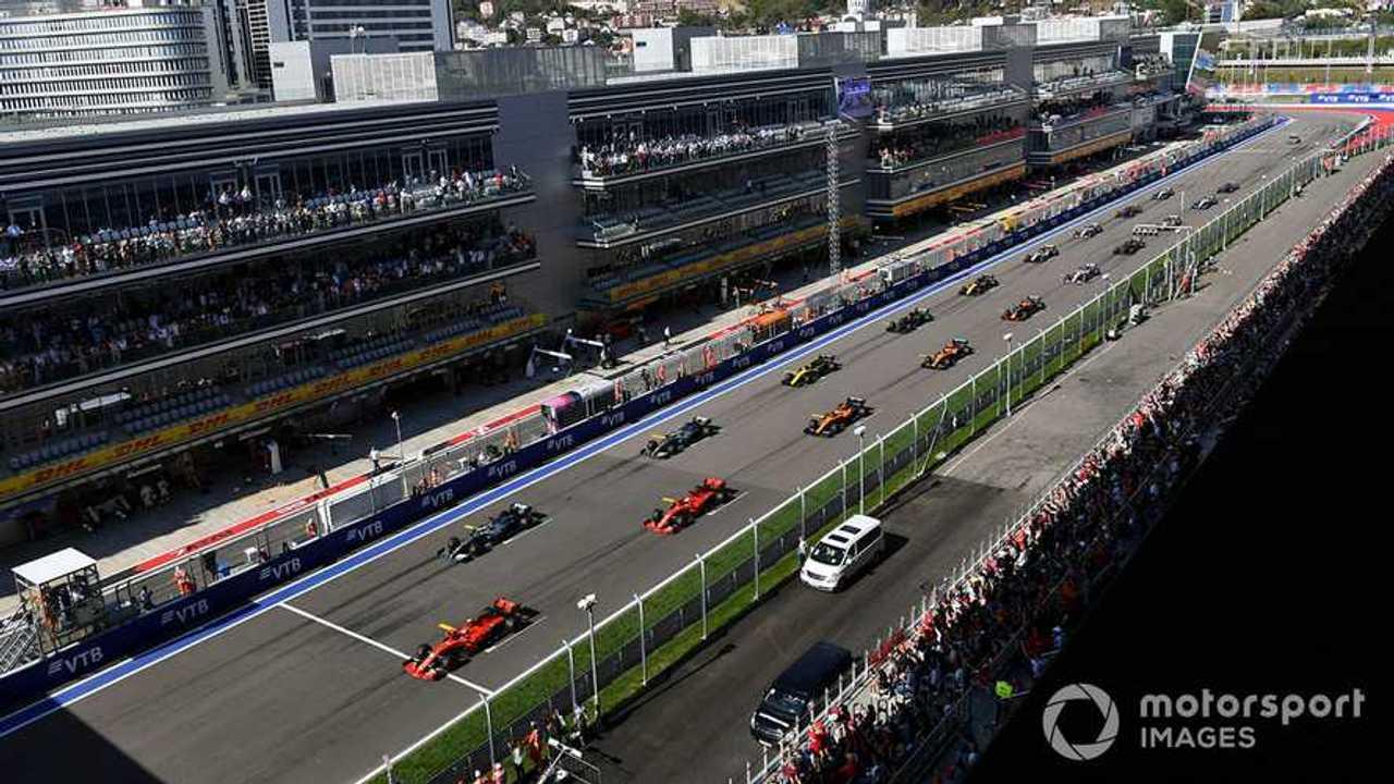 Russian GP 2019 start race