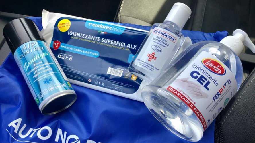 Ecco il kit per sanificare l'auto a noleggio (e non solo)