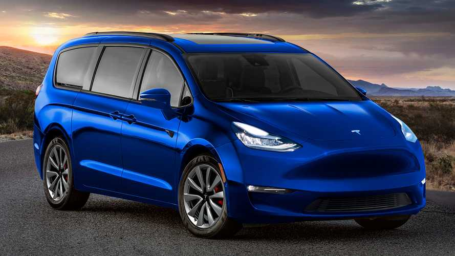 Check Out This Tesla Minivan: A Badge-Engineered Chrysler Pacifica
