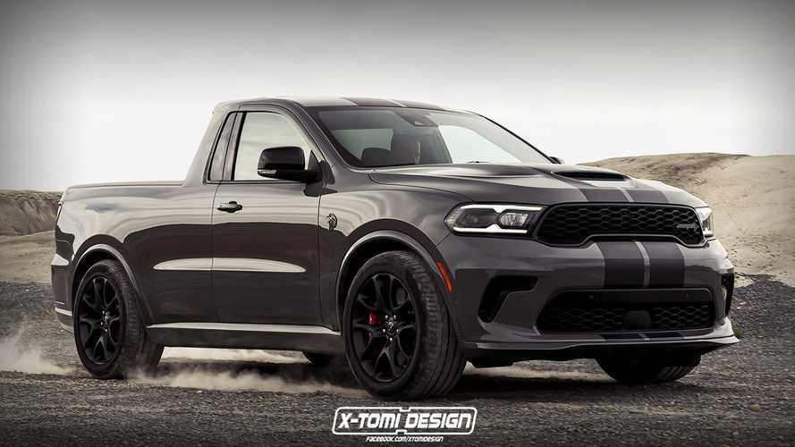 Dodge Durango Hellcat Pickup Rendering Imagines An Evil Midsize Truck