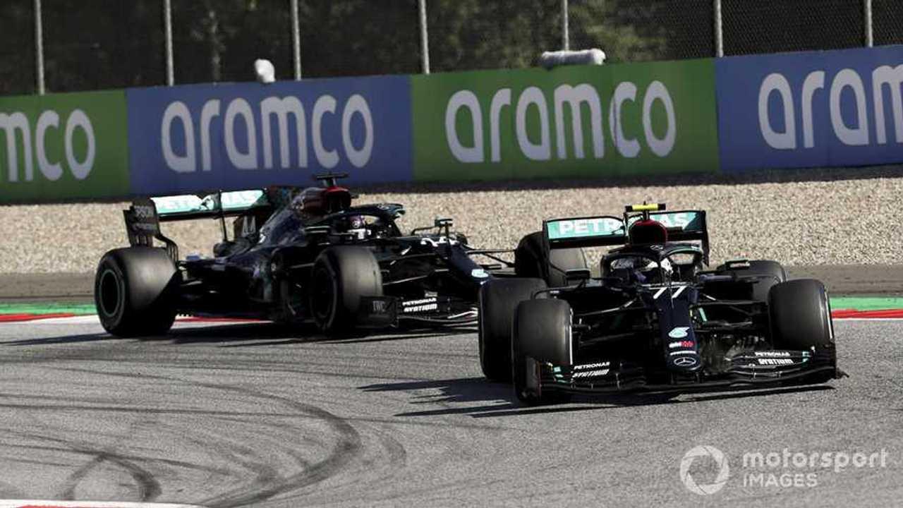 Valtteri Bottas leads Lewis Hamilton in Austrian GP 2020