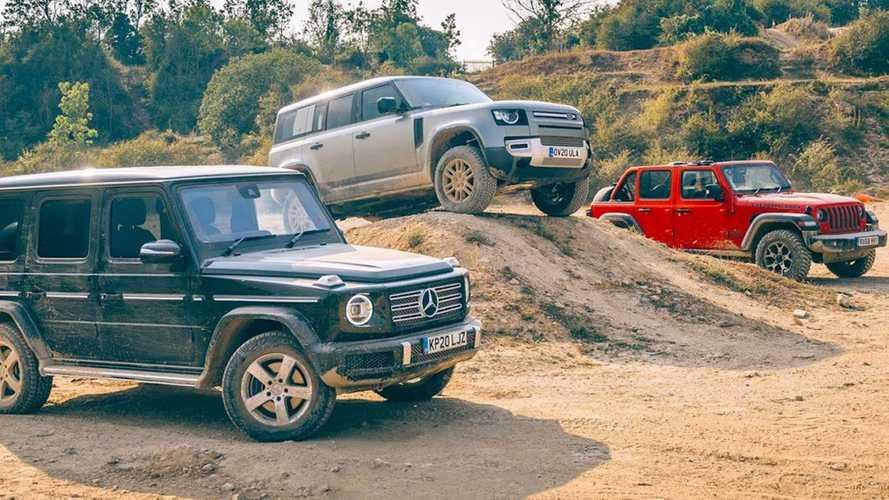 Jeep Wrangler, Mercedes G-Serisi ve Yeni Defender ile arazi yarışında