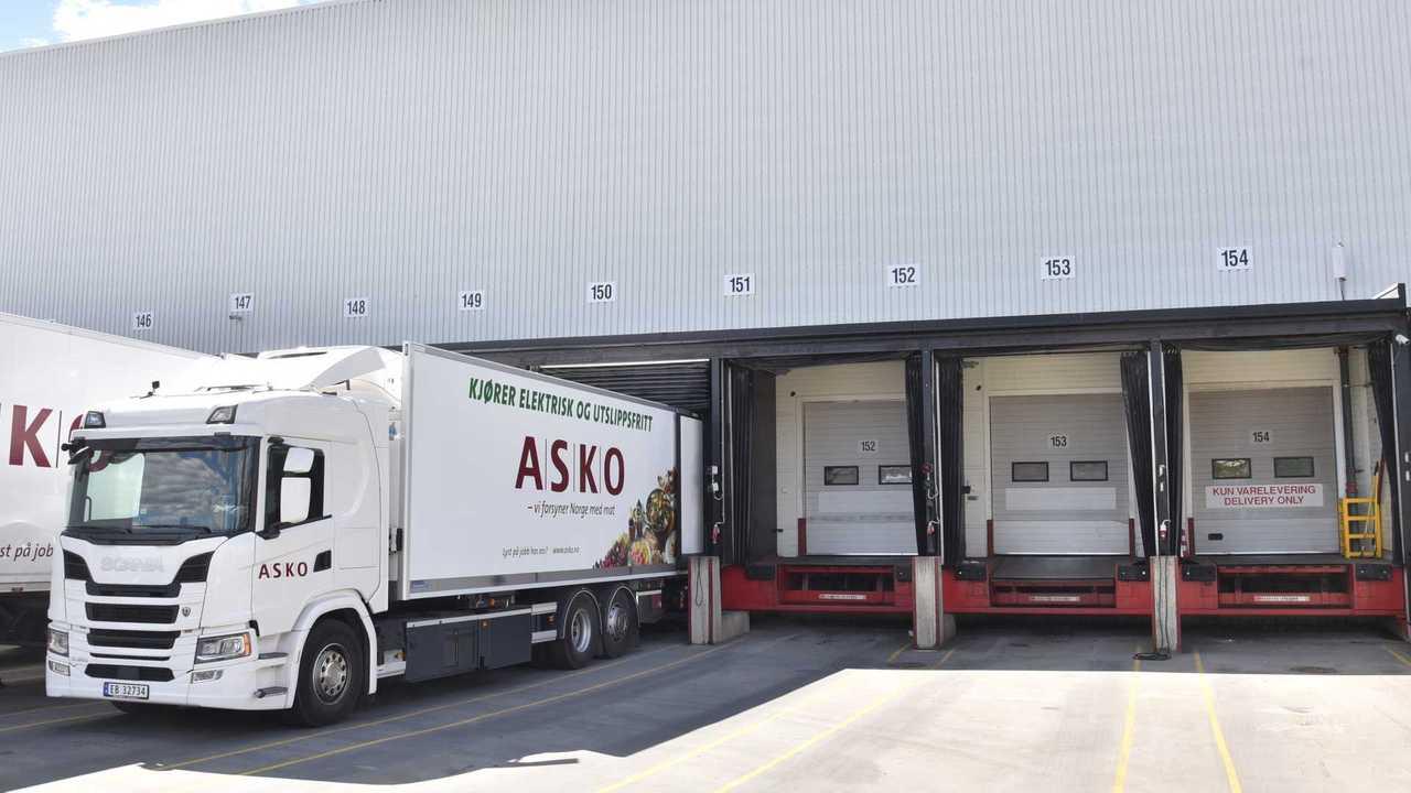 Scania battery electric truck in ASKO fleet