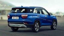 Projeção: Hyundai Creta 2021 com 7 lugares