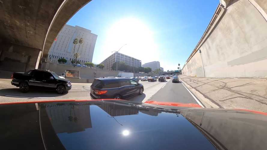 Tesla Model Y Full Self-Driving Package Vs Terrible Rush-Hour Traffic