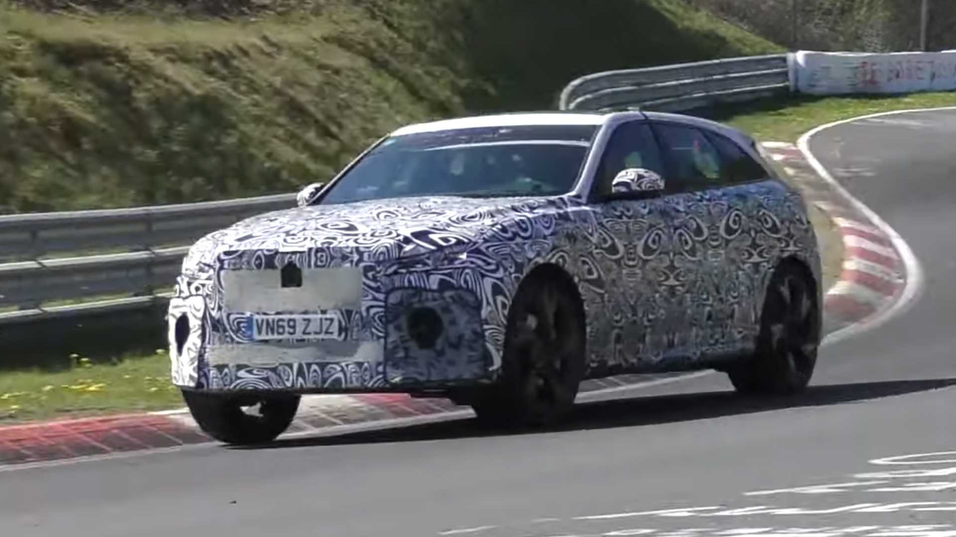2021 jaguar fpace svr caught making noise at the nurburgring