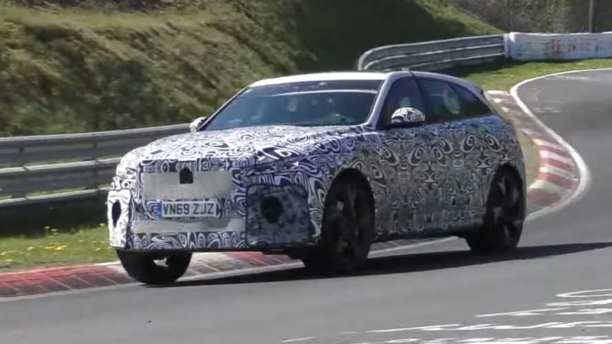 2021 Jaguar F-Pace SVR caught making noise at the Nurburgring