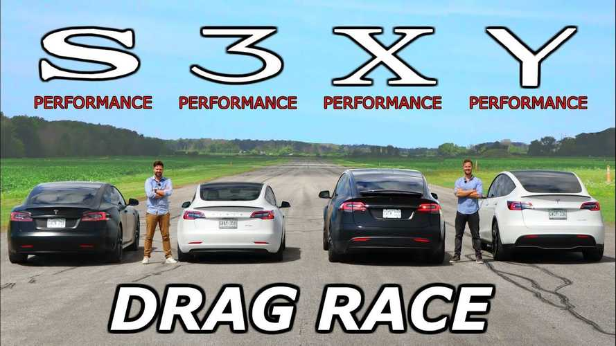 Watch This Epic Tesla S3XY Performance Drag Race: Plus Go Behind The Scenes