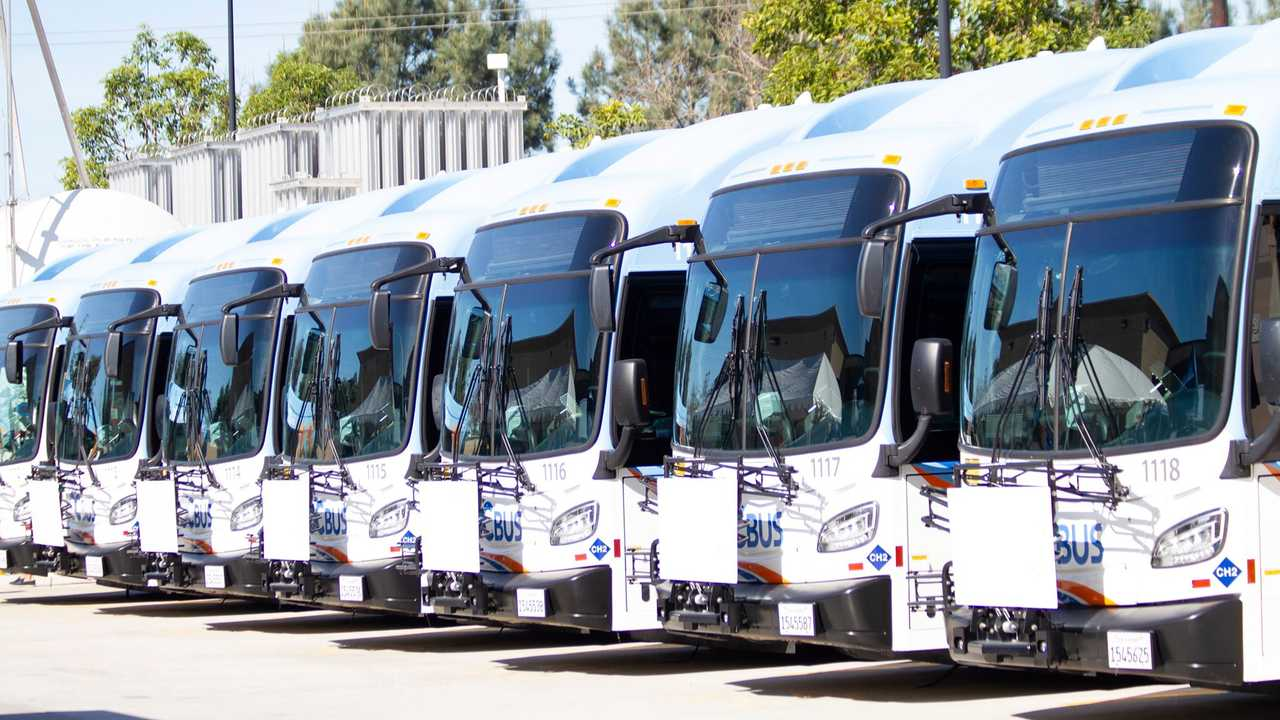 The Orange County Transportation Authority buses (diesel)