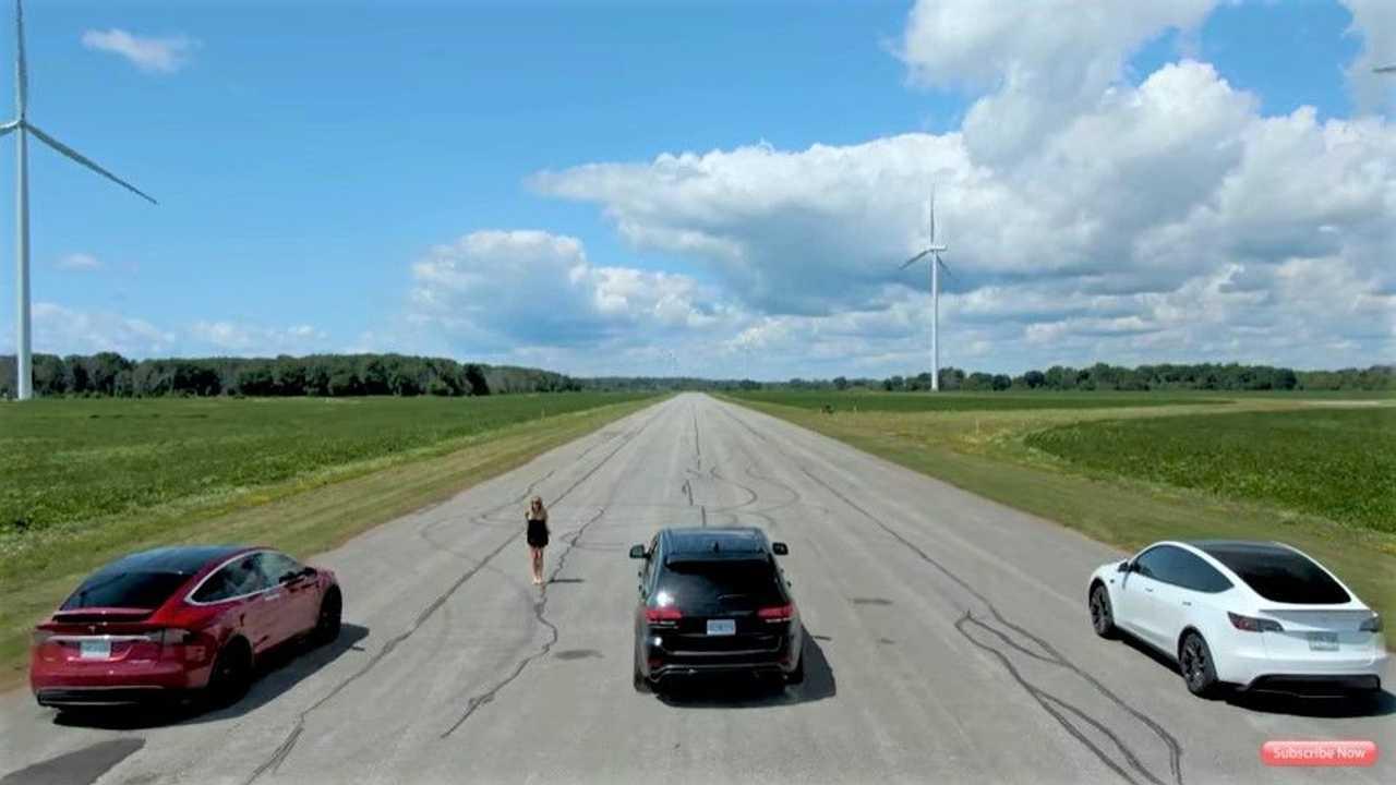Tesla vs Jeep Trackhawk