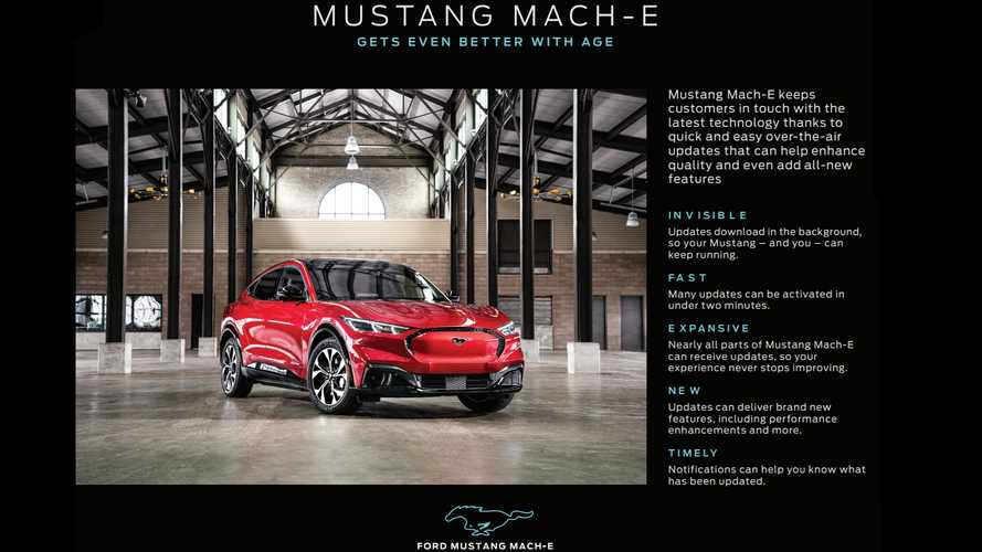 Ford Provides More Details About OTA Updates For Mustang Mach-E